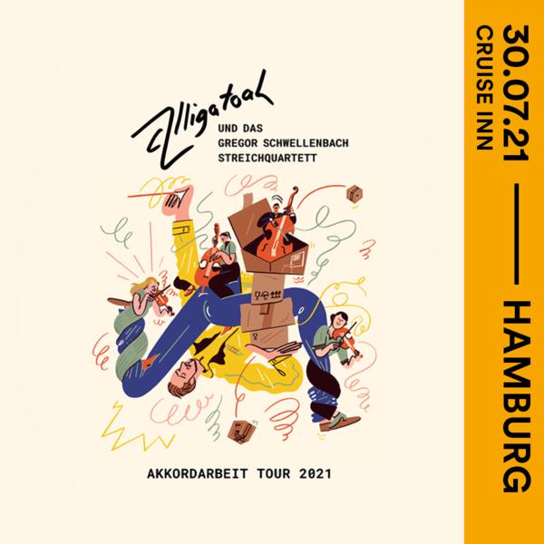 Tickets für ALLIGATOAH - Akkordarbeit Tour 2021 in Hamburg ...